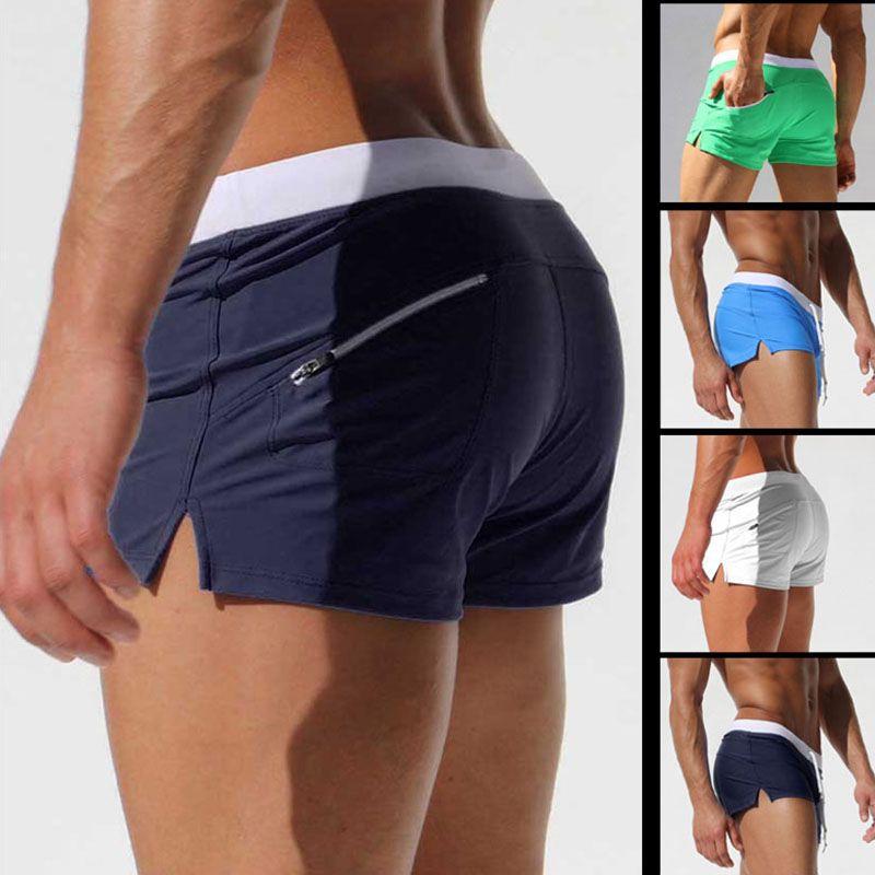 8 Colors New Swimwear Men Breathable Men's Swimsuits Swim Trunks Boxer Briefs Sunga Swim Suits Maillot De Bain Beach Shorts