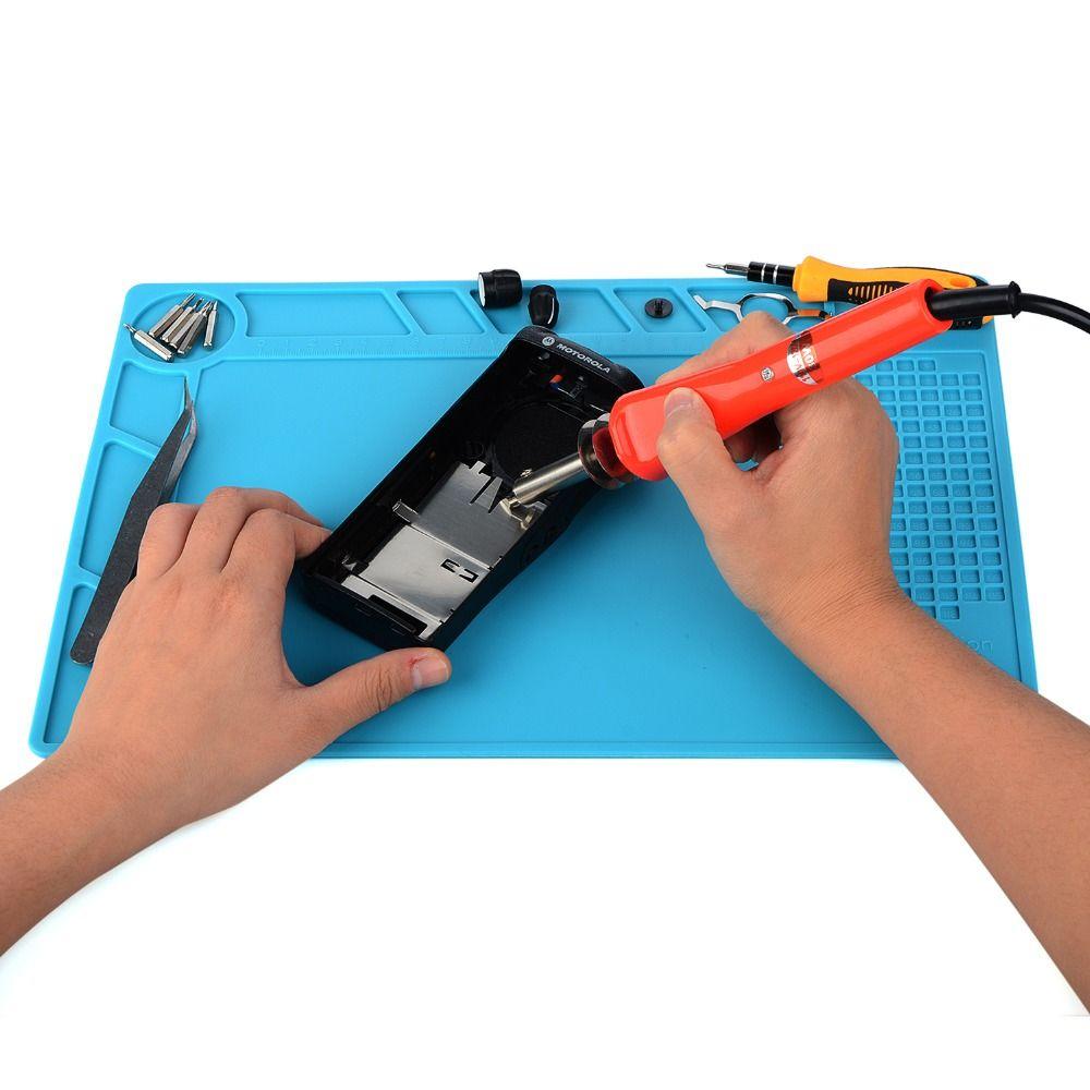 Silikon Wärmedämmung Wartung Elektronische Reparatur Matte Isolator Pad Plattform Repair Tool Matte Heißluftpistole Lötstation BGA
