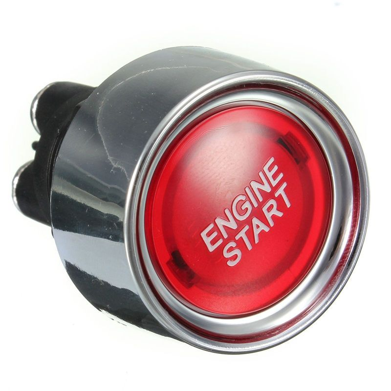 Red Universal Car Illuminated Push Button Engine Start Starter Switch Racing Voltage 12V DC Fits in a 22mm Hole