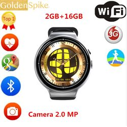 2017 New I4 AIR Cerdas Menonton 16 GB Memori Jam Tangan Dukungan WIFI 3G GPS Heart Rate Monitor Google Bermain Smartwatch Wrist 2.0 MP