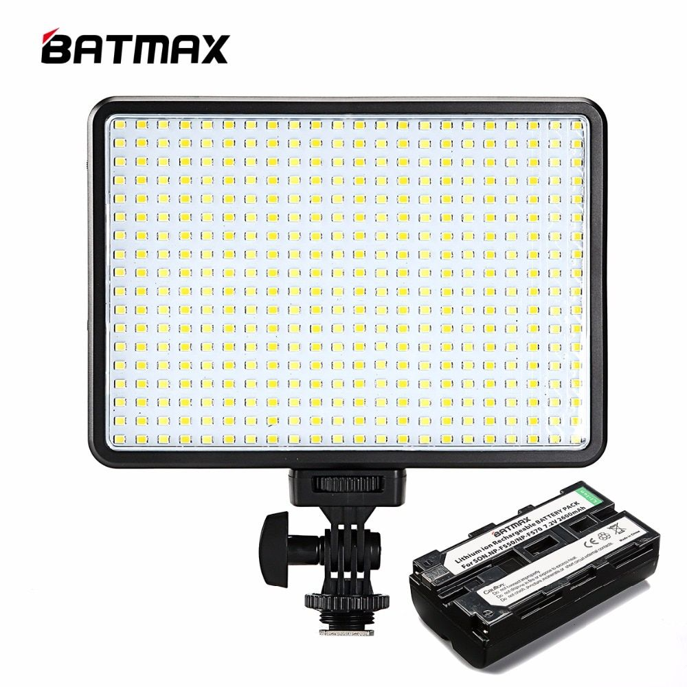 396 LED Bulbs Lighting Bi-Color & Dimmable Slim DSLR Video LED Light + F550 Battery+Charger for Canon Nikon Camera DV Camcorder