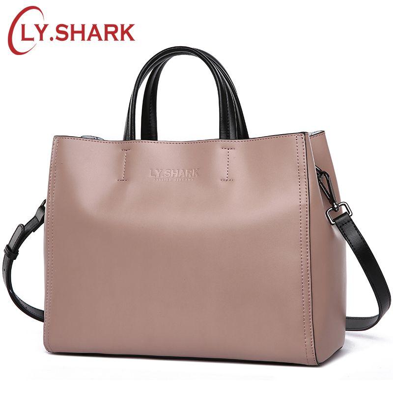 LY.SHARK Women bag Messenger Shoulder Crossbody Bag Ladies Genuine Leather Bags Handbags Women Famous Brand Luxury Designer Tote