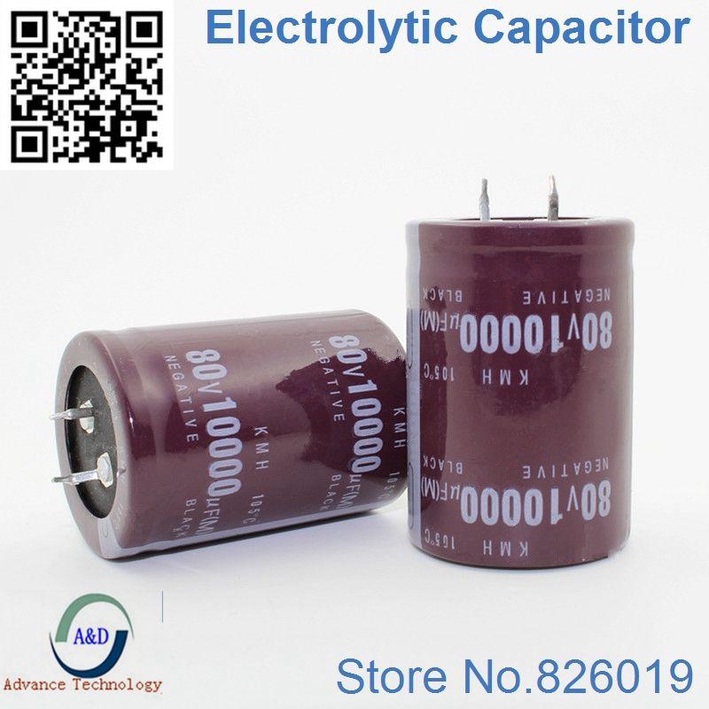 Beste qualität 80 V 10000 UF Radial DIP Aluminium-elektrolytkondensatoren größe 35*50 10000 UF 80 V Toleranz 20%