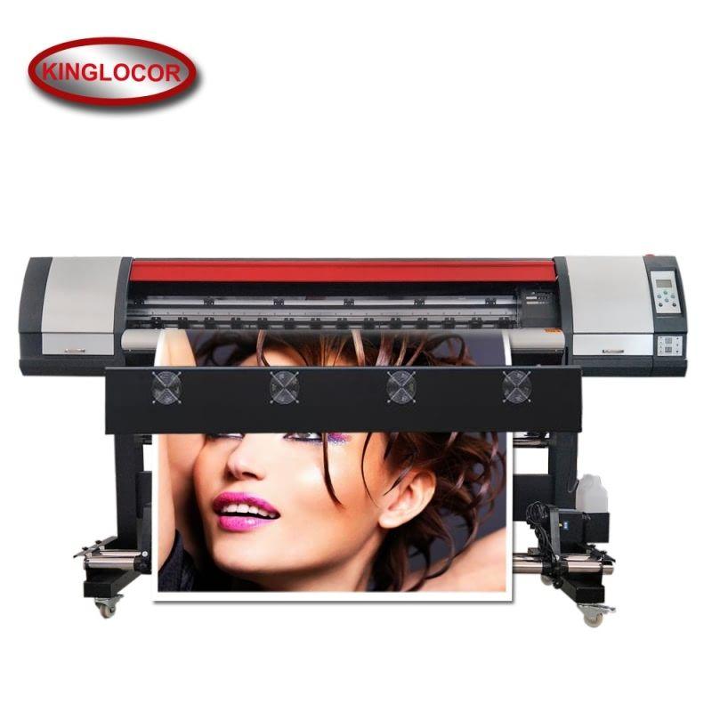Eine DX5 Doppel 4 Farben CMYK Große Format Vinyl Banner Eco Lösungsmittel Inkjet Drucker Drucker Mit 100 M LAN Netzwerk