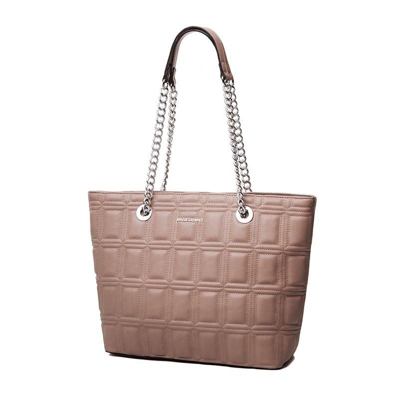 AMELIE GALANTI Damen tasche Schulter Taschen große kapazität Bequem und Praktisch Ketten Weichen PU Leder Frauen Schulter Taschen