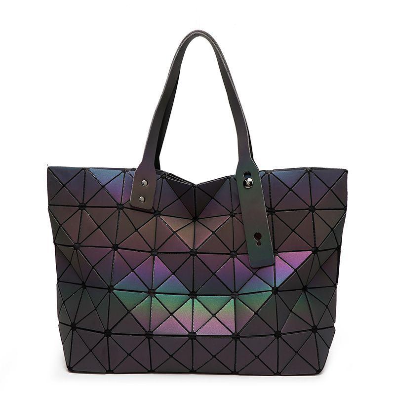 New Bao Bao bag Women Luminous sac baobao Bag Diamond Tote Geometric Quilted Shoulder Bags Laser Plain Folding Handbags bolso
