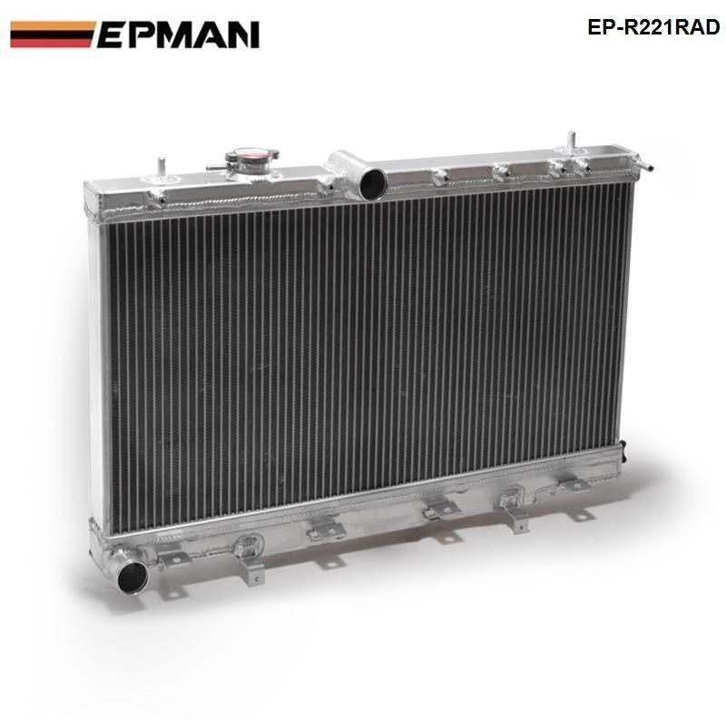 50mm 2 Row Aluminum Radiator For Subaru Impreza Wrx STI GDB GD8 MT 02-07 03 04 05 06 EP-R221RAD