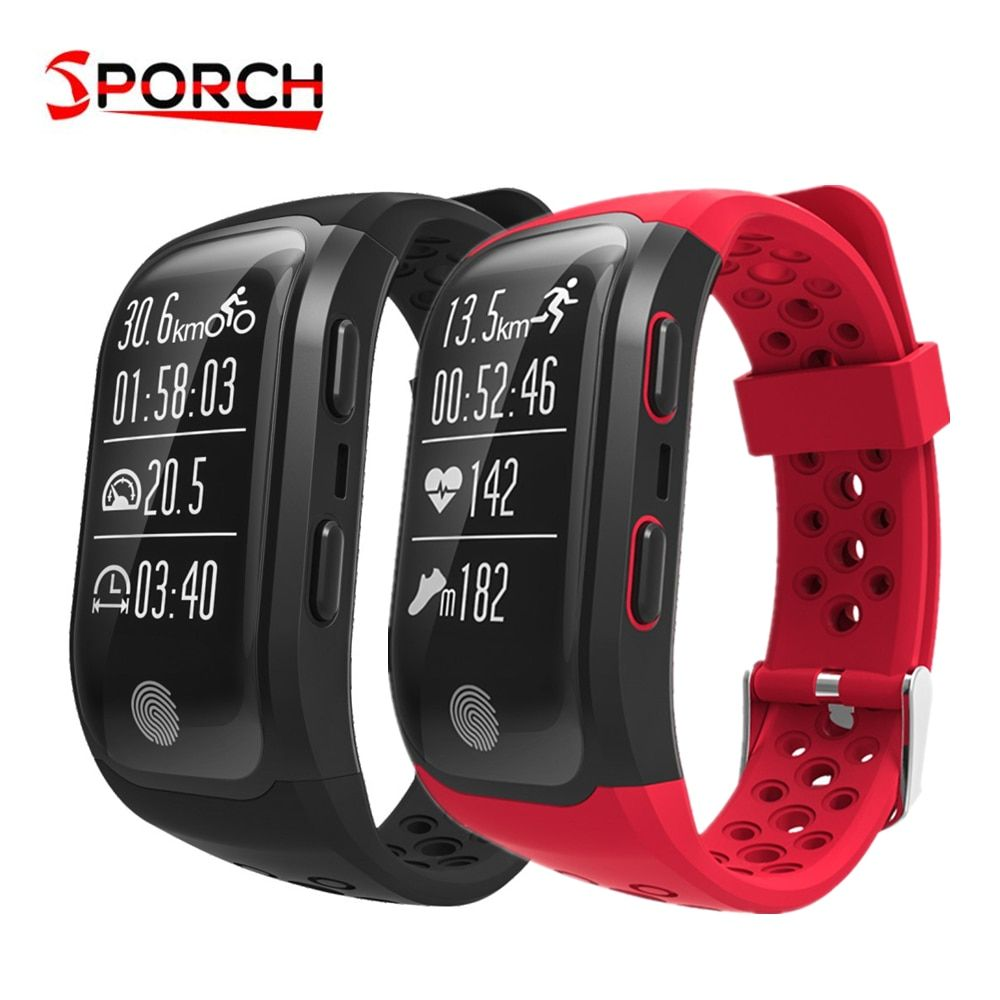 Sporch S908 GPS Smartband IP68 Waterproof Sports Wristband Heart Rate Sleep Monitor Sedentary Reminder Fitness Tracker Watch