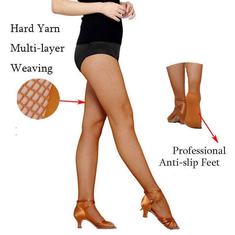 6pcs/pack Dance Pantyhose Women Fishnet Tights For Ballroom&Latin Dance Hard Yarn Elastic Latin Dance stockings