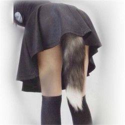 Аниме Косплей лисий хвост унисекс Хэллоуин семья cos Реквизит пары жизнь флирт хвост анальный штекер