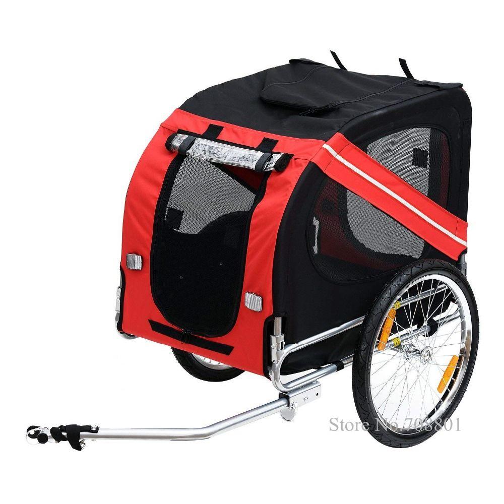 20 zoll Aufblasbare Rad Pet Anhänger, Aluminium Rahmen Fahrrad Anhänger Hund Träger, Große Fahrrad Anhänger für Hunde, kann Halten 88lbs