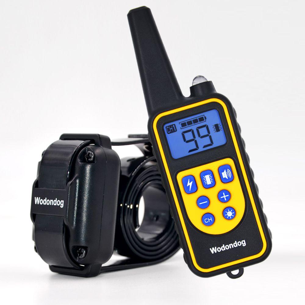 Collier de dressage de chien collier de choc électrique pour chiens IP7 plongée étanche 915MHz télécommande dispositif de chien chargeant l'affichage LCD