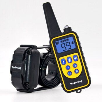 Dog training collar electric shock collar for dogs IP7 diving waterproof 915MHz remote control dog device charging LCD Display