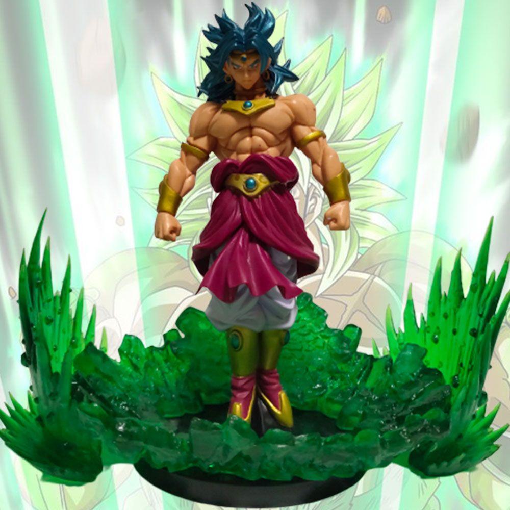 Dragon Ball Z figurines Broly PVC modèle vert effet de puissance Figurine d'action Dragon Ball Broly jouets Dragon Ball Super Broli Figurine