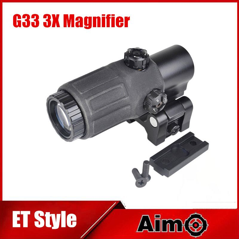 Aim O Tactical Hunting Rifle Holographic Red Dot Optics Sights 3x Magnifier Rifle Scope Sights Airsoft Gun With STS Mount AO5348