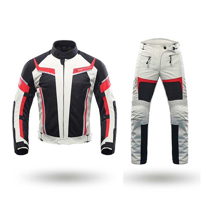 DUHAN Men's Motorcycle Jackets Motocross Clothing Moto Pants Motorbike Jacket Protector Gear Trousers Suits With CE
