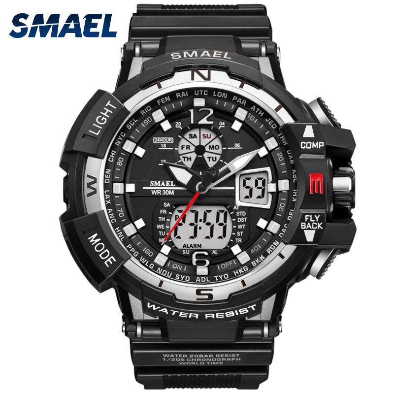 Casual Watch Men Waterproof <font><b>montre</b></font> homme Men's Writswatch LED Digital Watches Men Clock Led reloj hombre 1376 Big Sport Watches