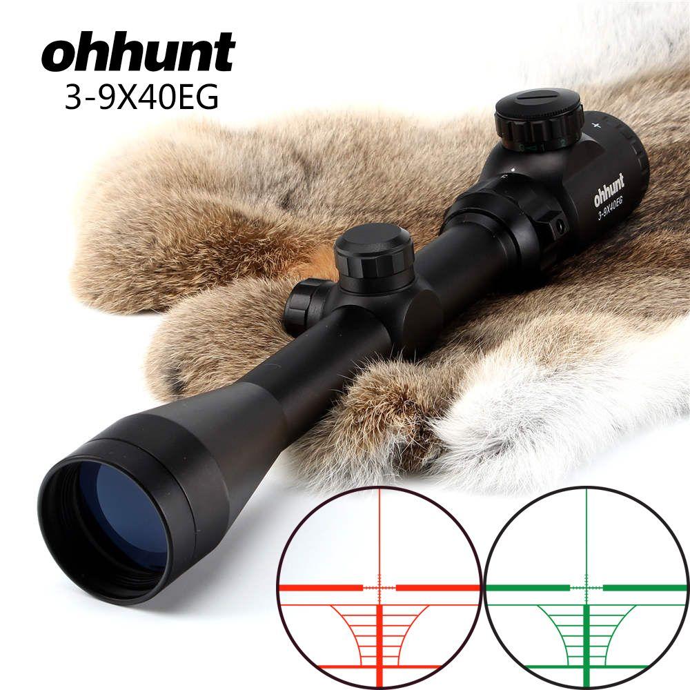 ohhunt Air Rifle Scope 3-9X40E Red Green Illuminated RifleScope Hunting Crossbow Rifle Scope For .177 .22 Caliber Airguns
