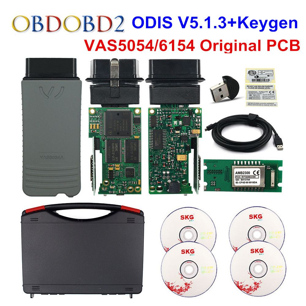 D'origine VAS5054 OKI Keygen VAS5054A Bluetooth AMB2300 ODIS V4.4.10 pour V/AUDI/SKODA/SEAT VAS 5054A VAS6154 WIFI UDS pour VAG