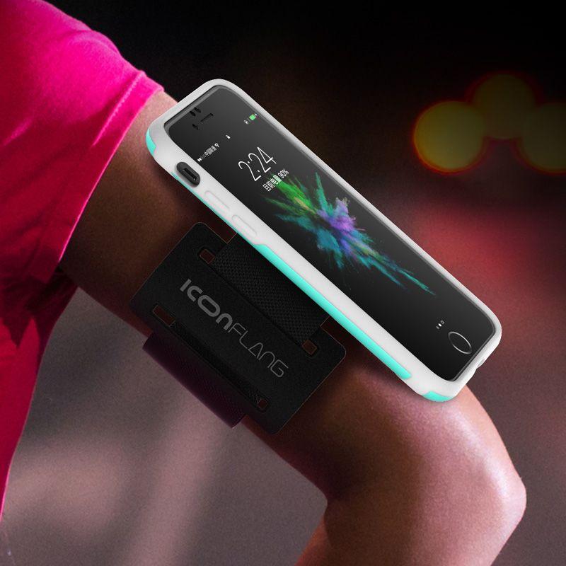 Sport Brassards Cas Pour iPhone 7 7 Plus En Plein Air Marche Antichoc Gym Téléphone Couverture de Poche Pour iphone 7 Arm Band Sac Iconflang