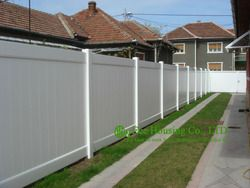 White Color PVC Privacy Fence, House Private Fence, American Style Fence For Sale, Outdoor Villa Fence