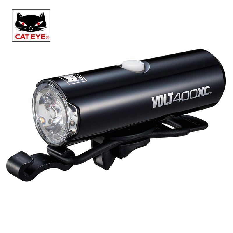 CATEYE Vélo Lumière 100/200/400/500 Lumens Vélo Bike Light Tête avant Lumières Torche Lampe pour vélo Accessoires Vélo