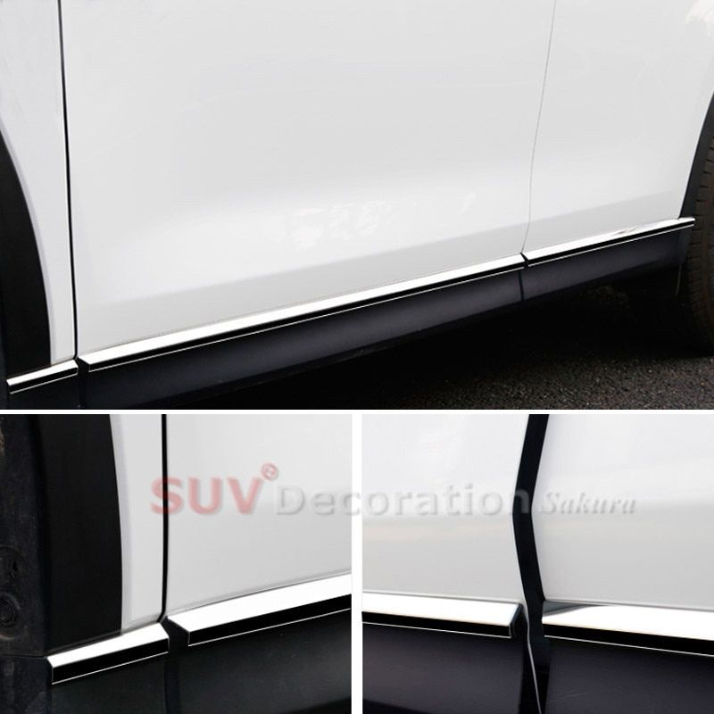 Stainless Steel car-styling Accessories CAR Auto Side body molding Cover Trim 8pcs  for Mazda CX-5 CX5 2017 2018