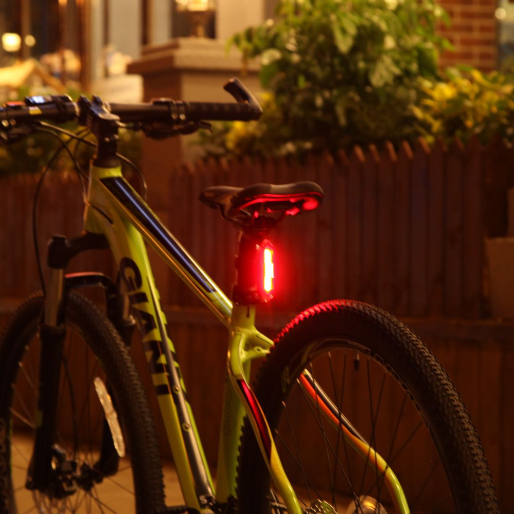 USB Rechargeable Bike Bicycle Rear Tail Light 5 Modes Cycling Taillight Bicycle Warning Safety Lights Lamp +USB Cable +Bracket
