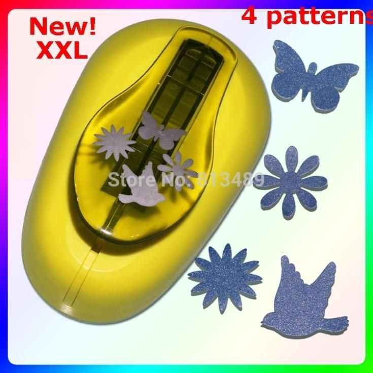 Free Shipping 4-patterns extra large butterfly paper punch scrapbooking Paper Creative Craft Hole Punch Embossing