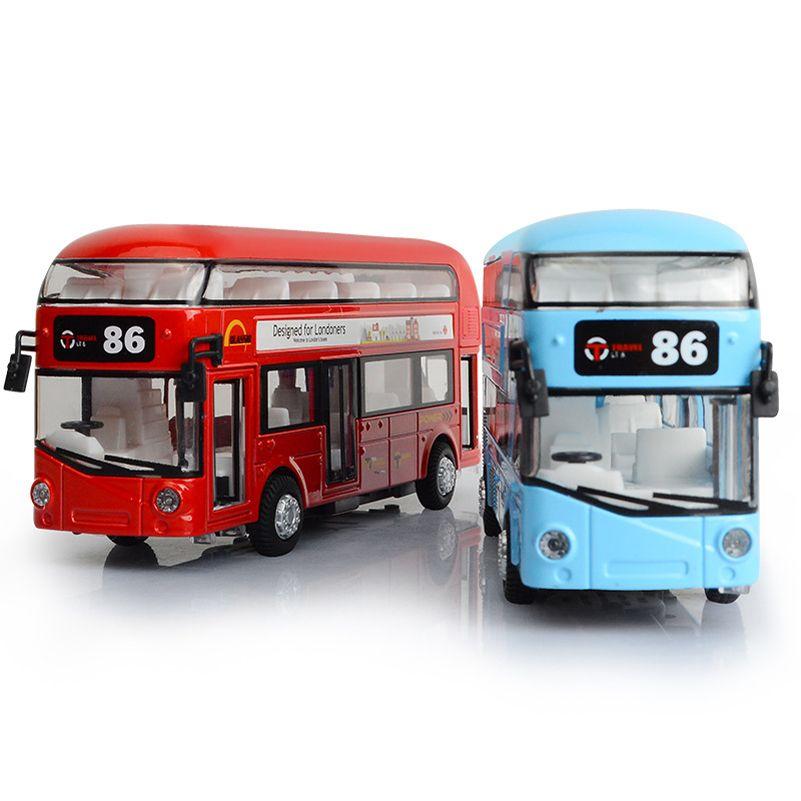 Alloy London Bus Double Decker Bus Light & Music Open Door Design Metal Bus Diecast Bus Design For Londoners Toys For Children