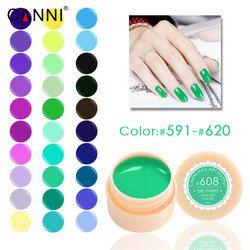 #591-620 141C CANNI Tremper off peinture gel 5 ml Pur Couleurs solide LED/UV Gel Pour Nail Design peinture CANNI Couleur Gel nail vernis