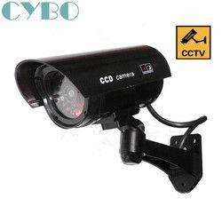 Поддельный обманный видеонаблюдения Камера Открытый водонепроницаемый Emulational манок ИК светодиодный Беспроводной флэш-красный светодиодн...