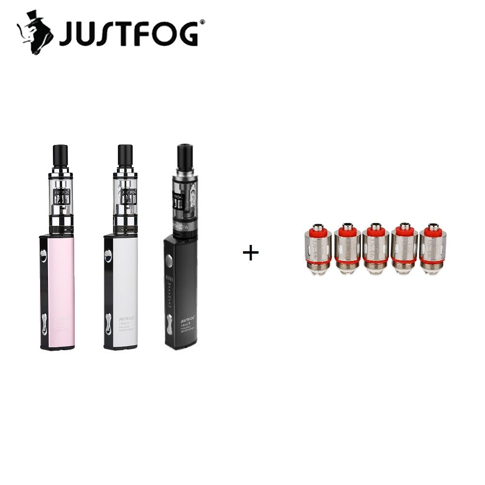 900mAh Original Justfog Starter Q16 Kit with 1.9ml Justfog Q16 Clearomizer & 8 Level Variable Voltage with 900mAh Battery E-cig