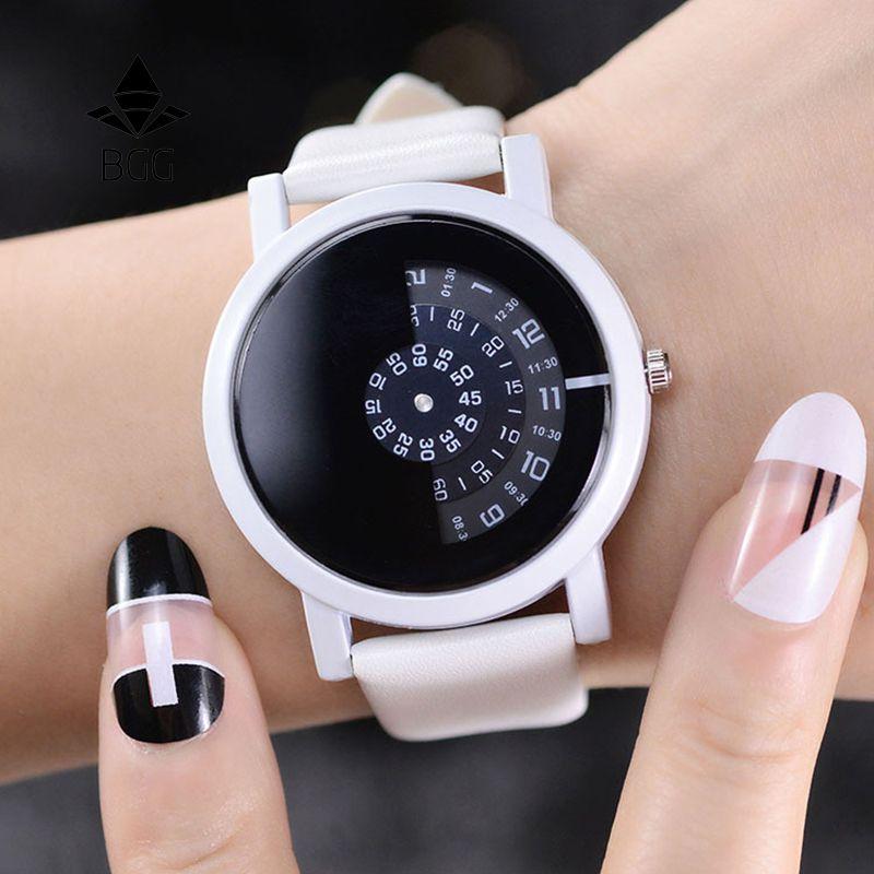 Наручные часы камера BGG творческий дизайн 2017 концепция краткое простой специальные цифровые диски руки Мода повседневные часы для мужчин ж...