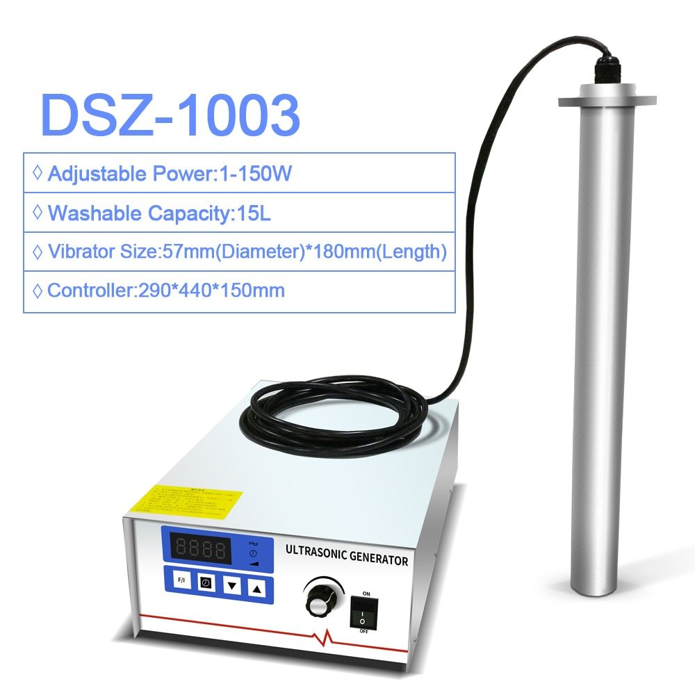 Input Industrial Ultrasonic Cleaner Shock Rod Stick Immersible Power Adjust Oil Rust degreasing Lab Ultrasound washer 28 40 KHZ