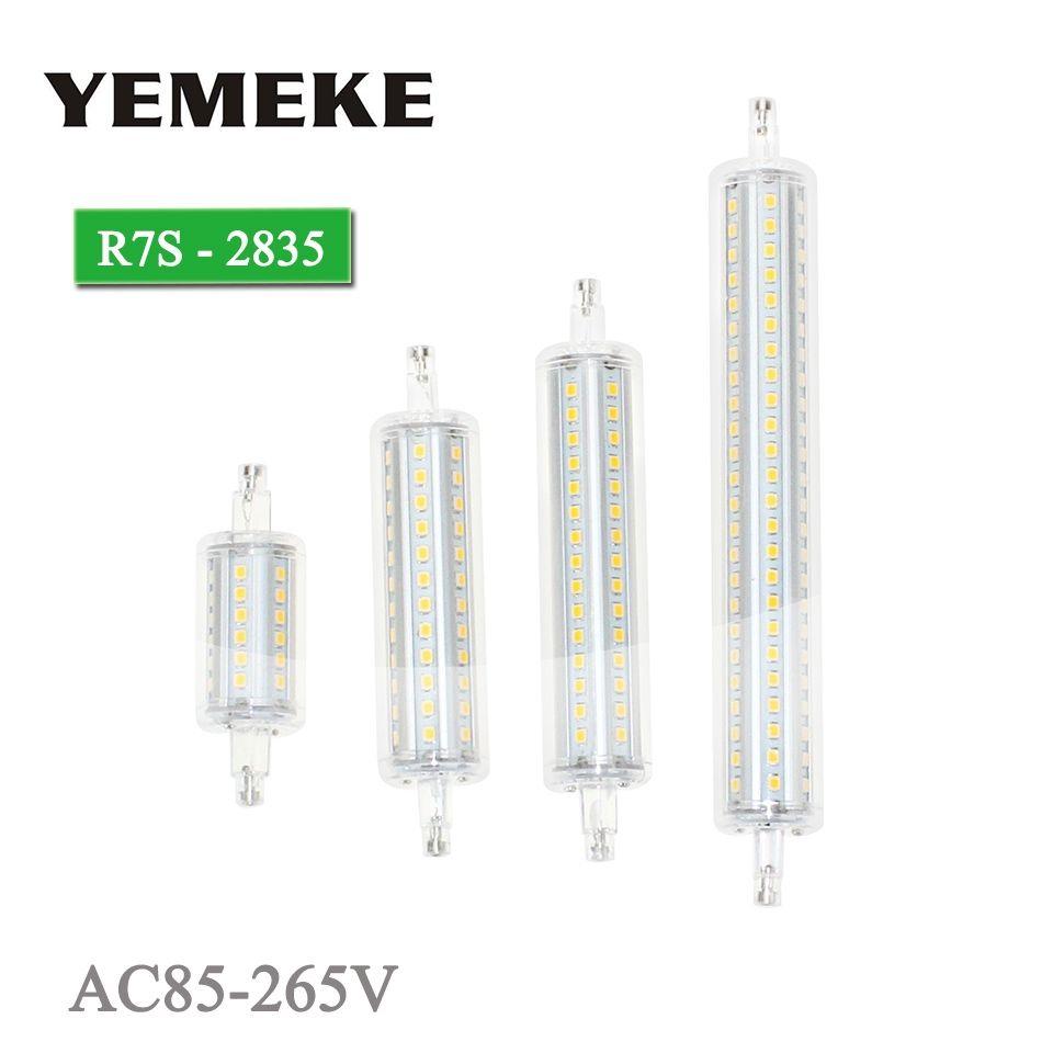 R7S LED Ampoule Lampe 5 w 8 w 10 w 13 w SMD 2835 LED de Maïs ampoules 360 Degrés 78 118 135 189mm Lampadas AC85-265V Lanterne Remplacer Halogène
