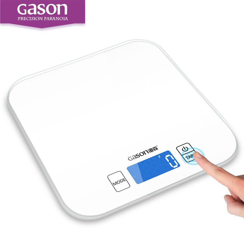 GASON C1 15kg/1g Kitchen Scale Electronic Precision Mini Measure Tools <font><b>Balance</b></font> Digital Gram Cooking Food Glass LCD Display