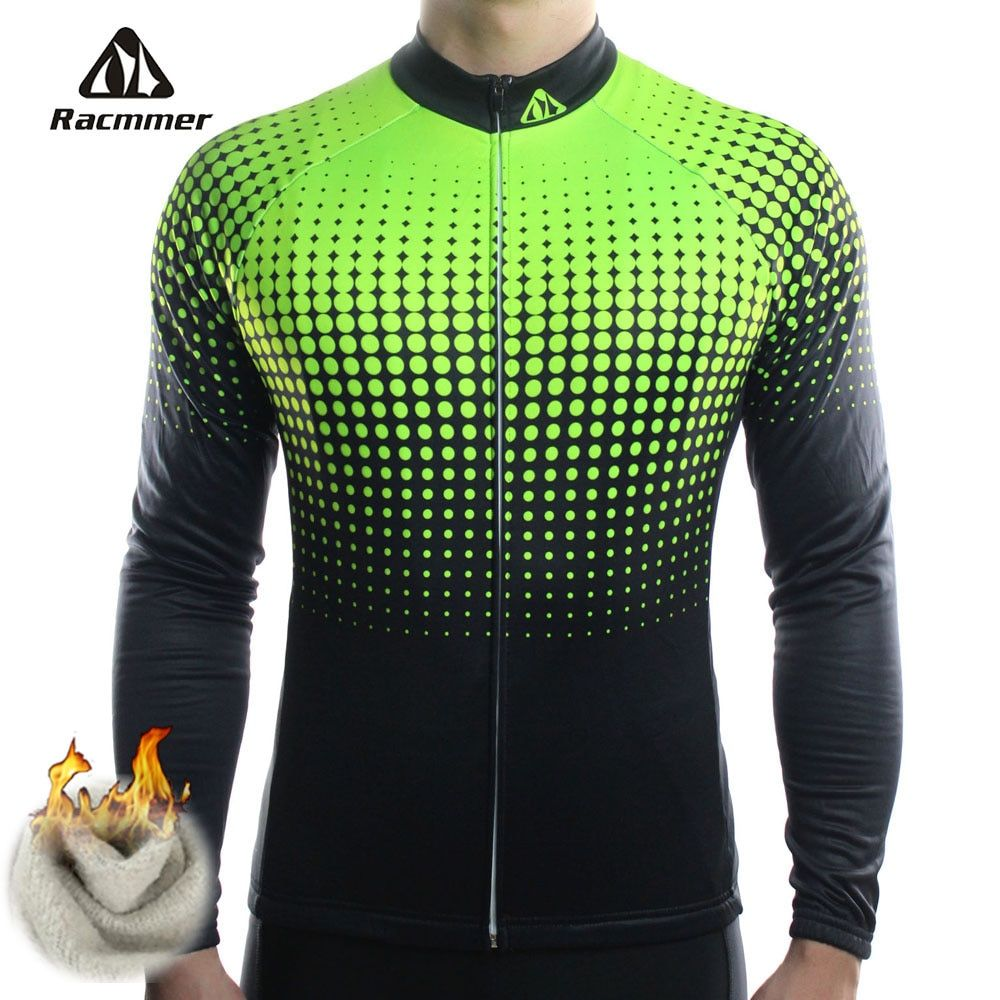 Racmmer Winter 2018 Long Pro Thermal Fleece Cycling Jersey Men Clothing Bicycle Maillot Equipacion Ciclismo Bike Clothes #ZR-14