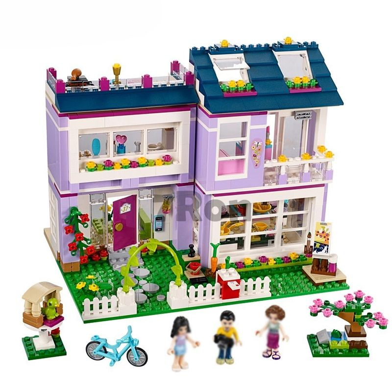 BELA 10541 Friends Series Emma's House Compatible with Lego Blocks Classic For Girl Kids Model Building Toys hobbies Marvel