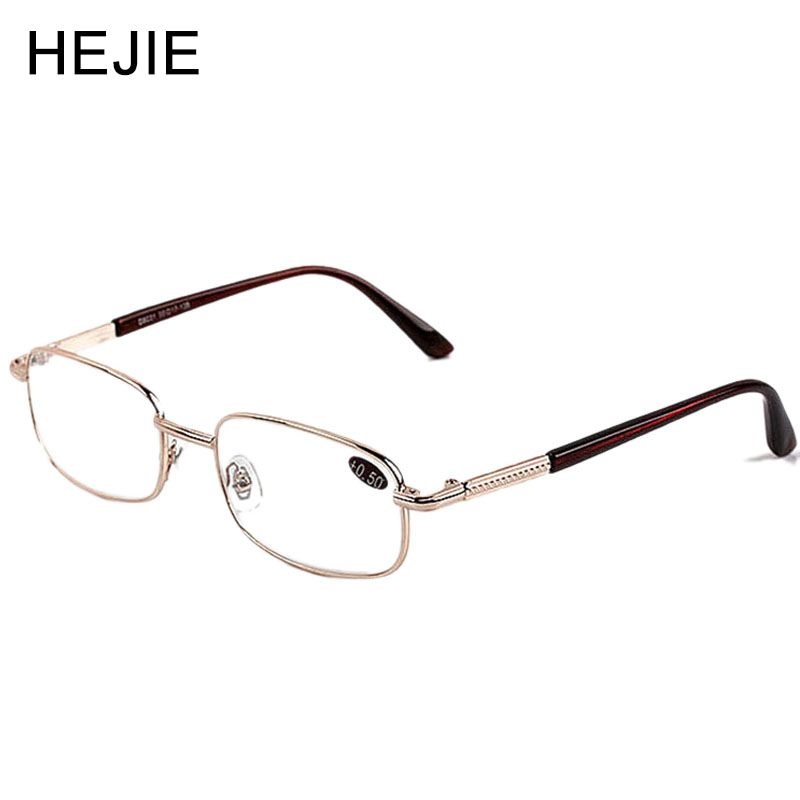Classic Unisex Alloy Full Rim High Clear Glass Lens Reading Glasses Diopter+0.5-+6.0 Y1047