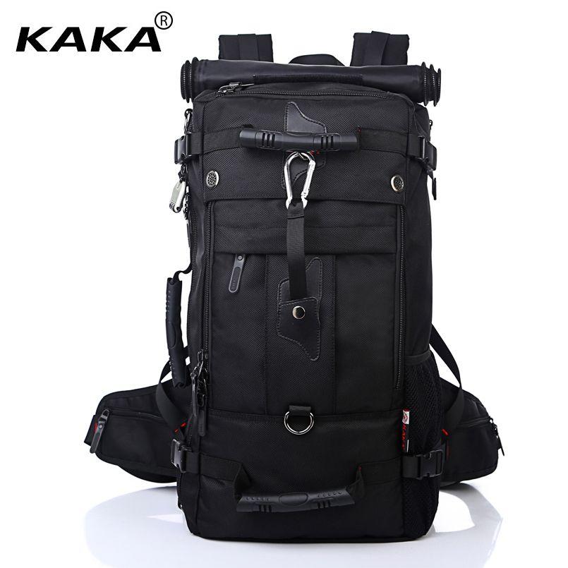 KAKA Men Backpack Travel Bag Large Capacity Versatile Utility Mountaineering Multifunctional Waterproof Backpack Luggage Bag