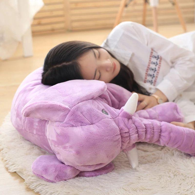 1 pc 40/60 cm Infantile Doux Apaiser Éléphant Playmate Calme Poupée Bébé Apaiser Jouets Éléphant Oreiller En Peluche Jouets en peluche jouet