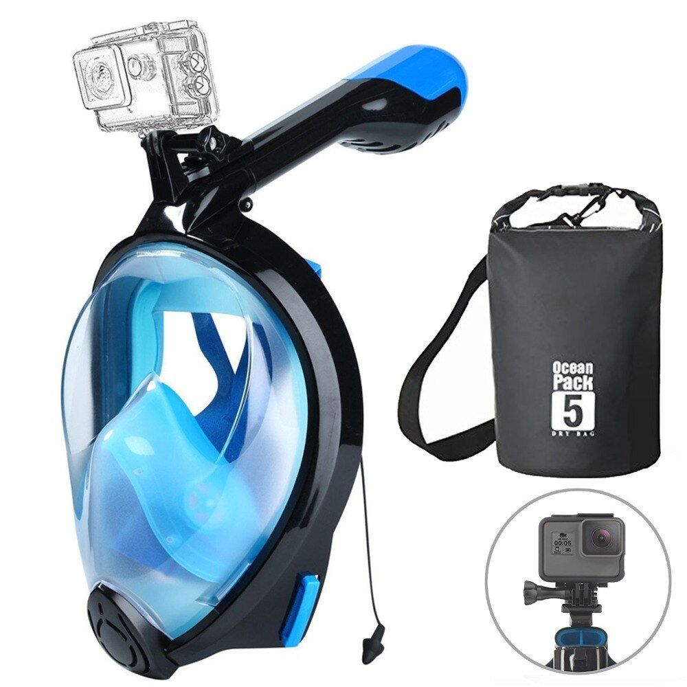 2018 diving snorkel mask full face scuba mask for swimming underwater equipment for adult child scuba set diving gear with bag