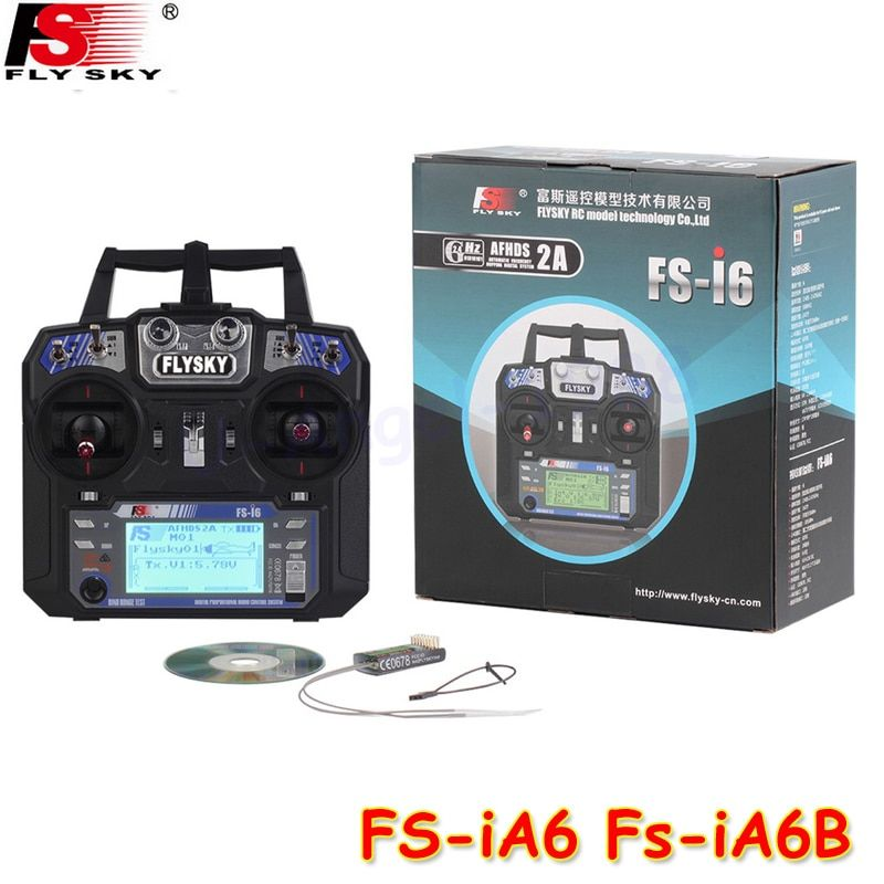 FlySky FS-i6 2.4G 6CH AFHDS RC Transmitter With FS-iA6 FS-iA6B Receiver for Airplane Heli UAV Multicopter Drone