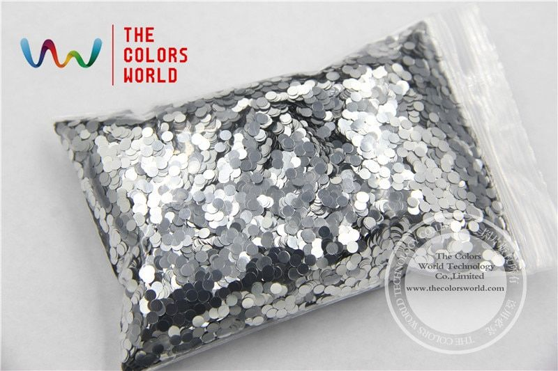 TCM0100 Dot shape  Bright Silver Sprinkling 3.0MM  Color Glitter Metallic Colors Spangles  for Art and Nail decoration DIY