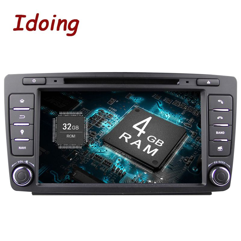Idoing Android8.0 4G+32G 8Core 2Din Steering-Wheel For Skoda Octavia 2 Car Multimedia DVD Player Fast Boot 1080P HDP GPS+Glonass