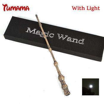 Harry Potter Zauberstab Cosplay Led Licht Albus Dumbledore Die Ältere Zauberstab Licht Kind COS Magische Tricks Geschenk Mit Original box
