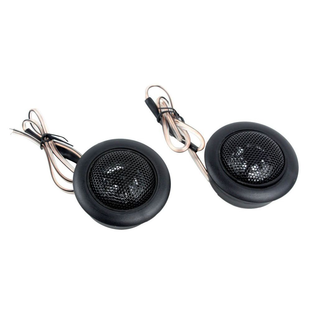 Top Deals 2 pcs Duro Dome Car Stereo Speakers High Dome Car Tweeters, Black
