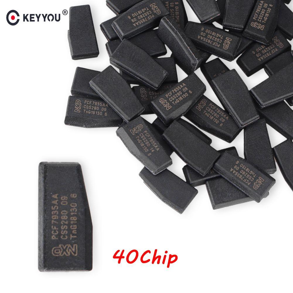 KEYYOU 10x Remote Auto Schlüssel Chip ID40 Transponder Chip ID 40 Crypto Carbon ID40 Chip Für Vauxhall Opel