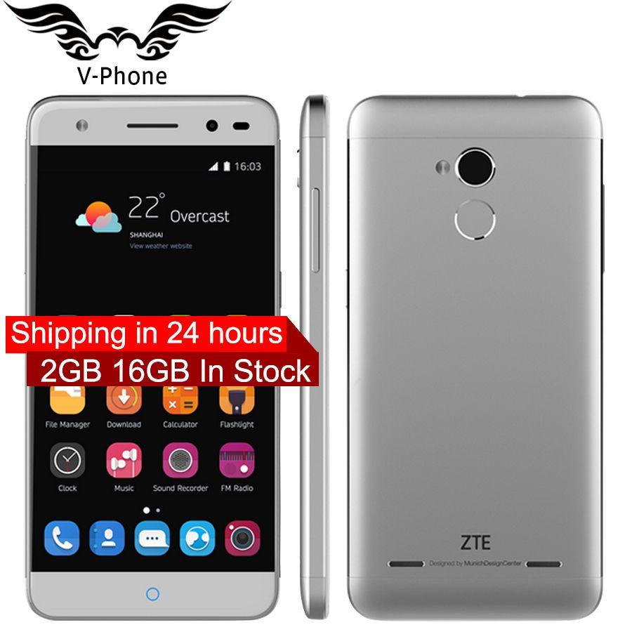 L'UE Version New Original ZTE Lame V7 lite 4G LTE Mobile Téléphone 5 pouce Quad Core 2 GB RAM 16 GB ROM Android 13MP Caméra D'empreintes Digitales